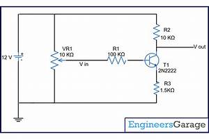 Inverting Amplifier With Signal Feedback Using Npn Transistor