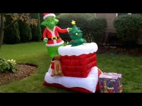 gemmy airblown inflatable grinch animated christmas blow