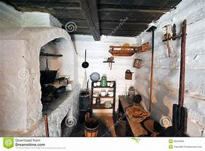 Traditional Old Kitchen Stock Image Image Of Cask Inside
