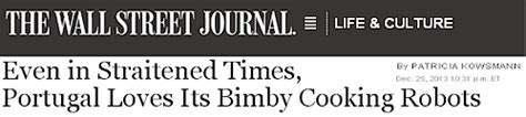 Wall Street Journal creates confusion about Thermomix in USA