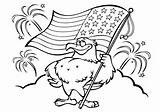 Flag American Coloring Pages Eagle Holding Raskrasil Site sketch template