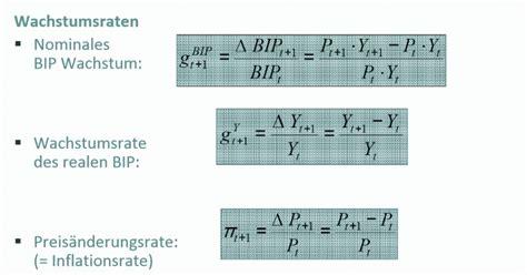 berechne die nominale wachstumsrate des bip  bip