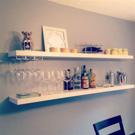 using wall cabinets for bar easy diy bar using 20 ikea shelves via www livingwithaboy