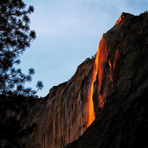 Firefall Tail Waterfall Yosemite National