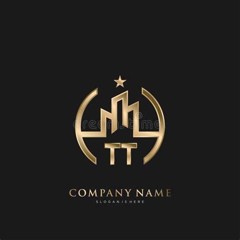initial letter tt house real estate logo design stock vector illustration  creative idea