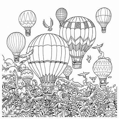 Coloring Pages Balloon Imagimorphia Air Adult Rosanes