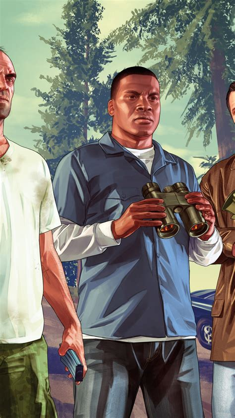 wallpaper grand theft auto  trevor franklin michael