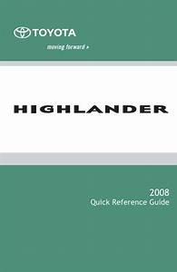 Toyota Highlander 2008 Owner U0026 39 S Manual