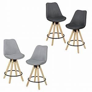 Chaise Tissu Design : finebuy ensemble de 2 tabourets de bar bois r tro tissu design avec dossier chaise de bar ~ Teatrodelosmanantiales.com Idées de Décoration