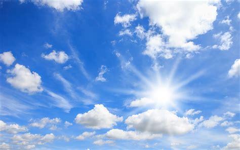 telecharger fonds decran ciel bleu nuages blancs le