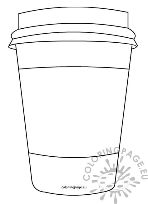 closed coffee paper cup pattern printable coloring page