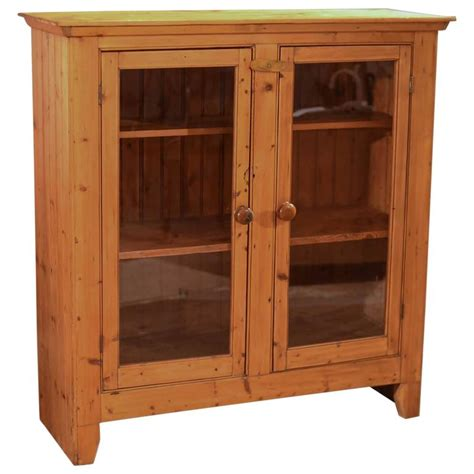 Two Door Bookcase by Two Door Antique Bookcase Pine Glazed Circa