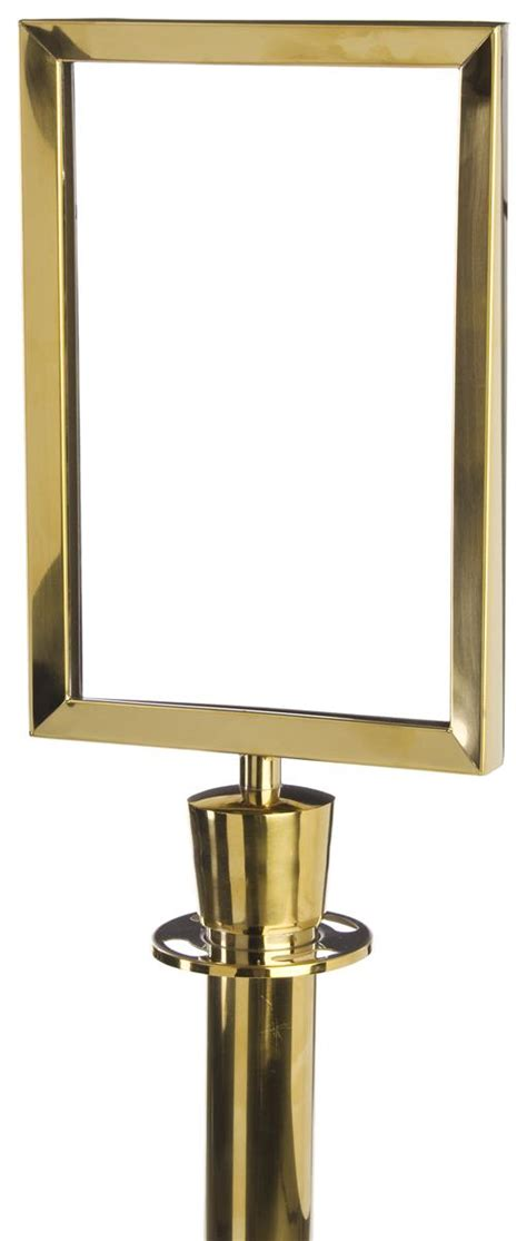 stanchion sign frame brass