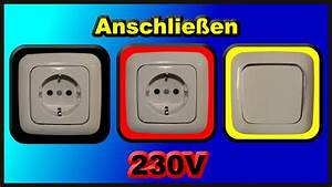 Herd Selber Anschließen : elektroinstallation teil 2 anschlie en zweier 230v schuko steckdosen und eines lichtschalters ~ Watch28wear.com Haus und Dekorationen