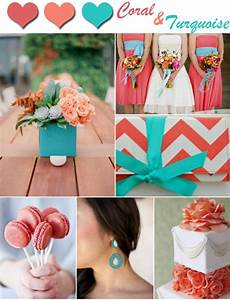 Trending coral and turquoise wedding color inspirations for Coral and turquoise wedding ideas