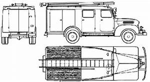 1952 ford fk 2000 fire heavy truck blueprints free outlines With 1952 ford pick up