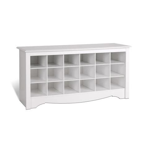 Prepac Entryway Shoe Storage Cubbie Bench White Wss4824