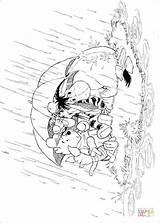 Coloring Pooh Winnie Rain Pages Umbrella Raining Under Hiding Disney Printable Hellokids Supercoloring Eeyore Cartoon Colouring Silhouettes Waiting Stop Friends sketch template