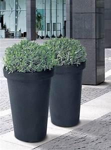 Blumentopf Aussen Grau : 2 x xxl pflanzk bel pflanztopf blumentopf blumenk bel kunststoff grau 74 cm h he ebay ~ Sanjose-hotels-ca.com Haus und Dekorationen