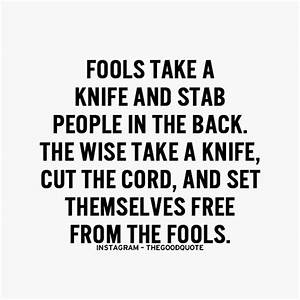 The BEST Quote ... Knife Song Quotes