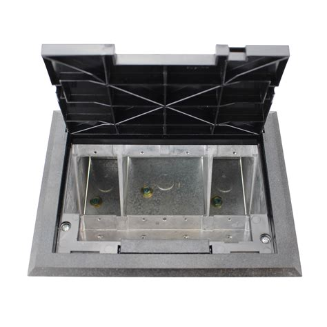 Wiremold Floor Box by Wiremold Legrand Af1 Kt Raised Floor Box With Black Tile