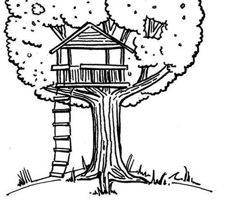 kids drawing   treehouse coloring page color luna