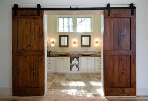 barn door for bathroom 15 sliding barn doors that bring rustic to the bathroom