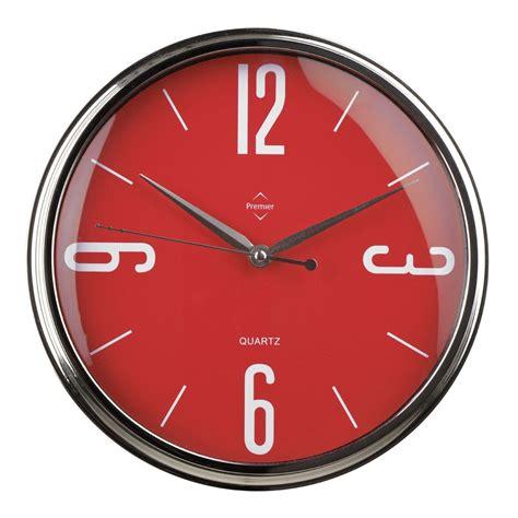 quartz wall clock black red cream white kitchen