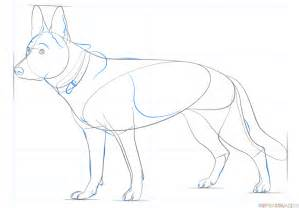 How To Draw A German Shepherd Dog Step By Step Drawing