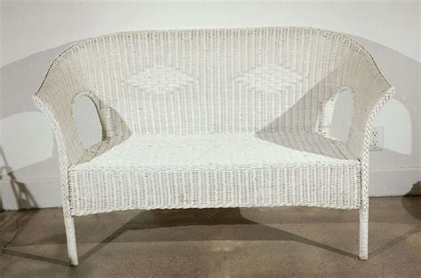 Conservatory Settee by White Wicker Settee 2 Sofas Available Garden