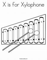 Xylophone Coloring Sheet Built California Usa sketch template