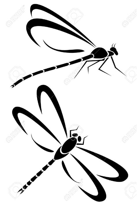 stock vector dragonfly dragonfly tattoo dragonfly