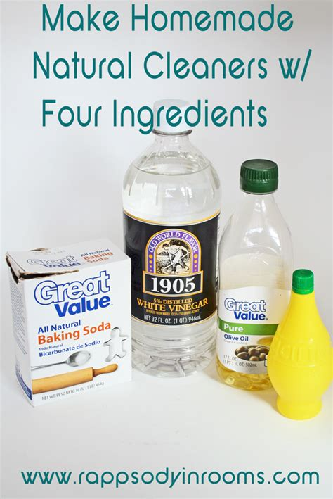 homemade natural cleaning recipes rhapsody  rooms