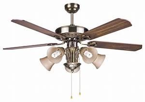 Large vintage bronze blazers ceiling fan light modern