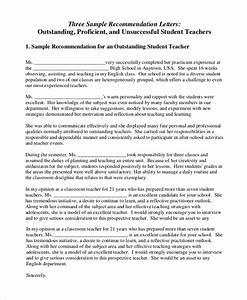 Sample Letter of Recommendation for Teacher - 18 ...