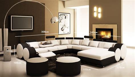 canap cuir noir et blanc deco in canape d angle panoramique design en cuir