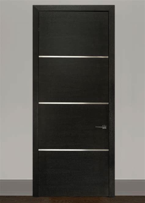 espresso wood modern interior door custom single wood veneer solid core wood with espresso finish