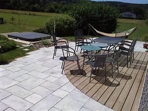 nivremcom terrasse bois avec arrondie diverses idees With amenagement autour de la piscine 12 paysage decors creations paysage decors