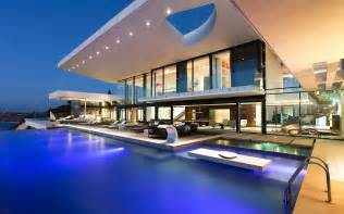home with pool modern house with a pool wallpaper 15037