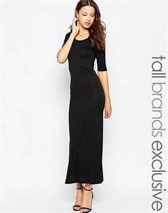 robe longue coton noir moulante manche mi longue la robe With robe mi longue manche longue