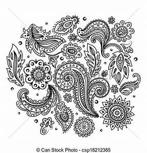 Henna Muster Schablone : vektor von sch ne blumen indische verzierung sch ne indische csp18212385 suchen sie ~ Frokenaadalensverden.com Haus und Dekorationen