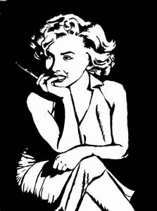 Marilyn Monroe Black And White Sketches Pictures to Pin on ...