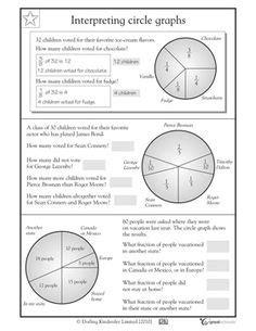 pie graph worksheets reading  pie graph worksheet pie