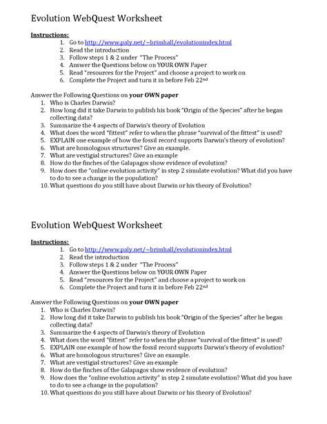 28 evolution worksheet answers 12 best images of