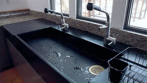 kitchen sink with marble top get stoned 11 kitchen sinks made from rock