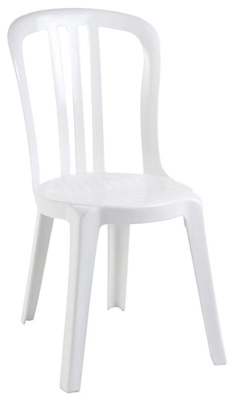 lot 56 chaises jardin blanches empilables bistrot grosfillex