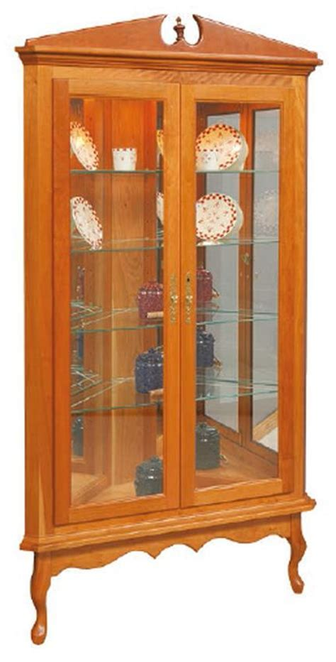 Queen Anne Corner Curio Cabinet from DutchCrafters Amish