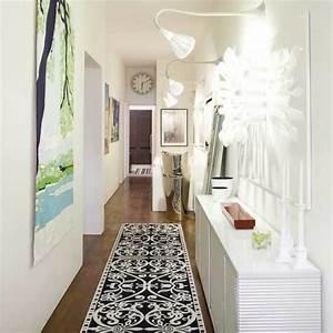 le tapis de couloir moderne 20 idees design With tapis couloir avec canapé blanc design