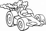 Coloring Race Cars Sheets Printable Template Boys Sprint sketch template