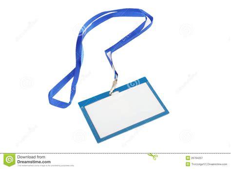 Name Tag. stock image. Image of identity, badge, string